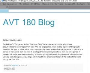 AVT 180 Blog